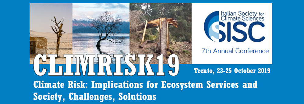Clima Risk 2019 banner in home