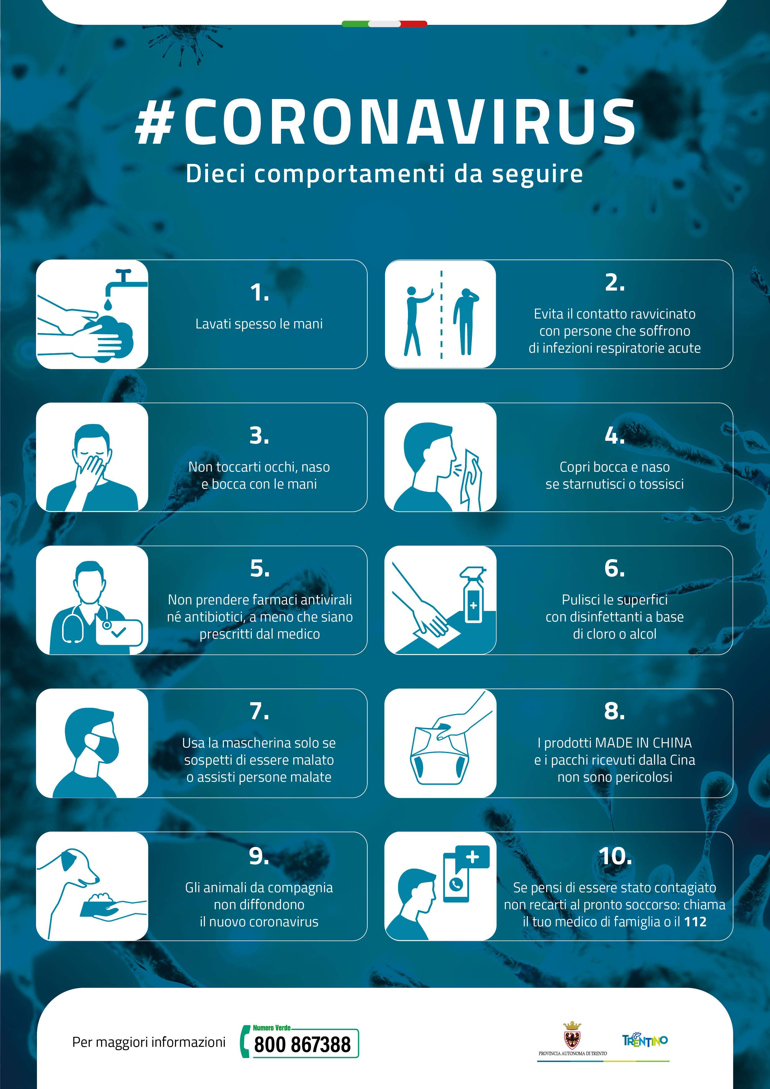 Coronavirus Il Decalogo In Italiano Tedesco E Inglese